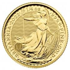 2022 Great Britain 1/4 Oz Gold Britannia (BU)