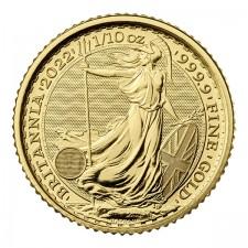 2022 Great Britain 1/10 Oz Gold Britannia (BU)