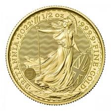 2022 Great Britain 1/2 Oz Gold Britannia (BU)