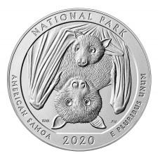 2020 5 Oz Silver ATB National Park of American Samoa (BU)