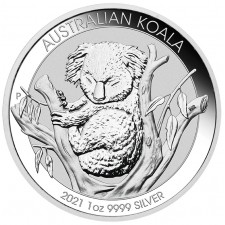 2021 Australia 1 Oz Silver Koala