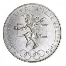1968 Mexico Silver 25 Pesos Olympic Avg Circ (ASW .5209 oz)