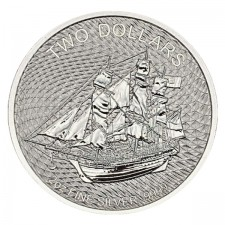 2020 Cook Islands 2 Oz Silver HMS Bounty Coin (BU)