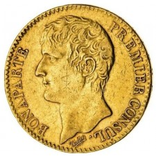 France Gold 40 Franc Bonaparte 1802-1803 (Average Circulated)