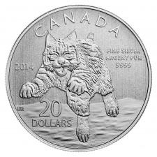 2014 Canada 1/2 Oz Silver Bobcat
