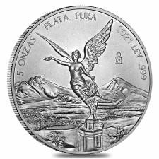 2021 5 Oz Mexican Silver Libertad Coin (BU)