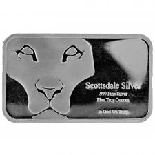 "Scottsdale Mint | 5 oz ""Prey"" Silver Bar"