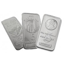 5 Oz Silver Bar - Secondary Market (.999+ Fine)