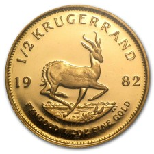 1/2 oz South Africa Gold Krugerrand Reverse