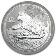 2010 Australia Silver Year of the Tiger 1 Oz (BU)