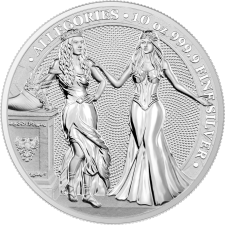 10 oz Silver Round | Italia & Germania Allegories 2020 (BU)