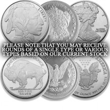 1/2 Oz .999 Silver Round (Secondary Market, Varied Condition, Any Mint)