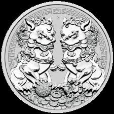 2020 1 oz Australia Guardian Lions (Double Pixiu) .9999 BU