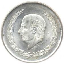 1953 Mexico Silver 5 Hidalgo Avg Circ (ASW .640 oz)