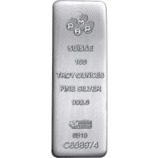 PAMP Suisse 100 Oz Cast Silver Bar (New w/Assay)