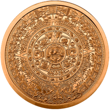 2 oz Copper Round | Aztec Calendar