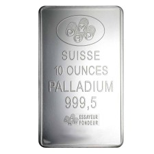 10 oz PAMP Suisse Palladium Bar (w/ Assay)