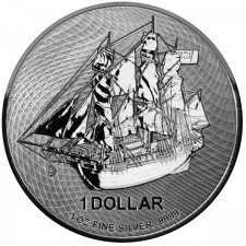 2020 Cook Islands 1 Oz Silver HMS Bounty Coin (BU)