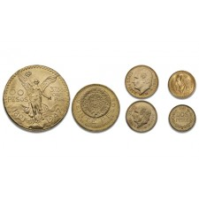 Mexican Gold Peso 6 Coin Bundle