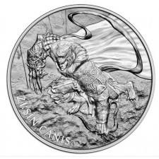 2018 South Korea 1 Oz Silver ZI:SIN Canis (BU)