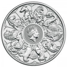 2021 UK 2 Oz Silver Queen's Beasts Complete Series Coin (BU)