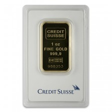 Credit Suisse 1 Oz Gold Bar Front
