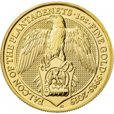 2019 UK 1 Oz Gold Falcon of Plantagenets BU (Queen's Beasts Series)