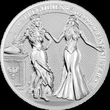 2 oz Silver Round | Italia & Germania Allegories 2020 (BU)