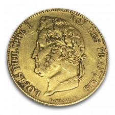 France Gold 20 Franc Louis Philippe I 1830-1848 (Average Circulated)
