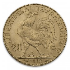 France Gold 20 Franc Rooster (Random Year)