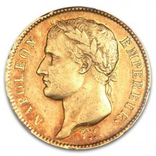 France Gold 40 Franc Napoleon I Coin 1808-1812 (Average Circulated)