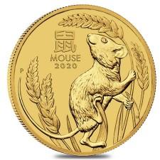 2020 Australia 1/10 oz Gold Lunar Mouse Coin (BU)