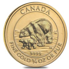 2015 Canada 1/4 oz Gold Polar Bear and Cub (BU)