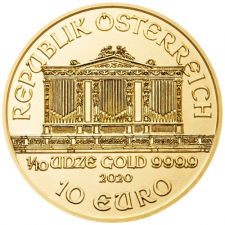 2020 Austria 1/10 Oz Gold Philharmonic