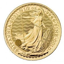 2021 Great Britain 1/2 Oz Gold Britannia (BU)