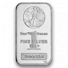 Highland Mint (HM) 1 Oz Walking Liberty .999 Fine Silver Bar Front