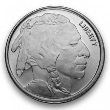 Highland Mint (HM) 1/4 Oz Buffalo Silver Round