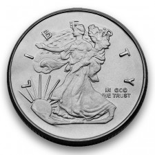 Highland Mint (HM) 1/4 Oz Walking Liberty Silver Round