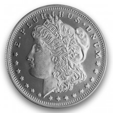 Highland Mint (HM) 1/2 Oz Morgan Design Silver Round