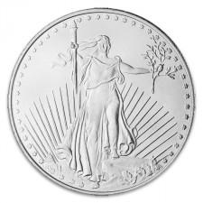 Highland Mint (HM) 1 Oz 1933 Saint .999 Fine Silver Round