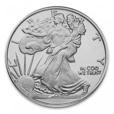 Highland Mint (HM) 1 Oz Walking Liberty .999 Fine Silver Round Obverse