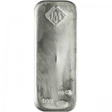 100 Oz Johnson Matthey Silver Bar (Any Type)