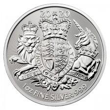 2020 Great Britain 1 oz Silver The Royal Arms BU