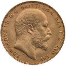 Great Britain King Edward Gold 1/2 Sovereign 1902-1910
