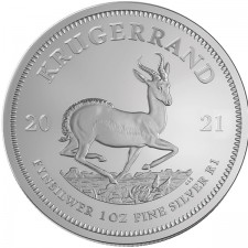 2021 South Africa 1 Oz Silver Krugerrand (BU)