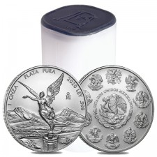 2020 1 Oz Mexican Silver Libertad Coin (BU) - Roll/Tube of 25 Coins