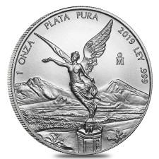 2019 1 Oz Mexican Silver Libertad Coin (BU)