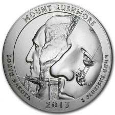 2013-P Mount Rushmore 5 Oz American Silver ATB (w/Box & COA)