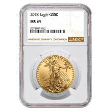 1 Oz American Gold Eagle NGC MS69 (Random Date)