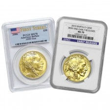 1 Oz Gold Buffalo PCGS/NGC MS70 (Random Date)